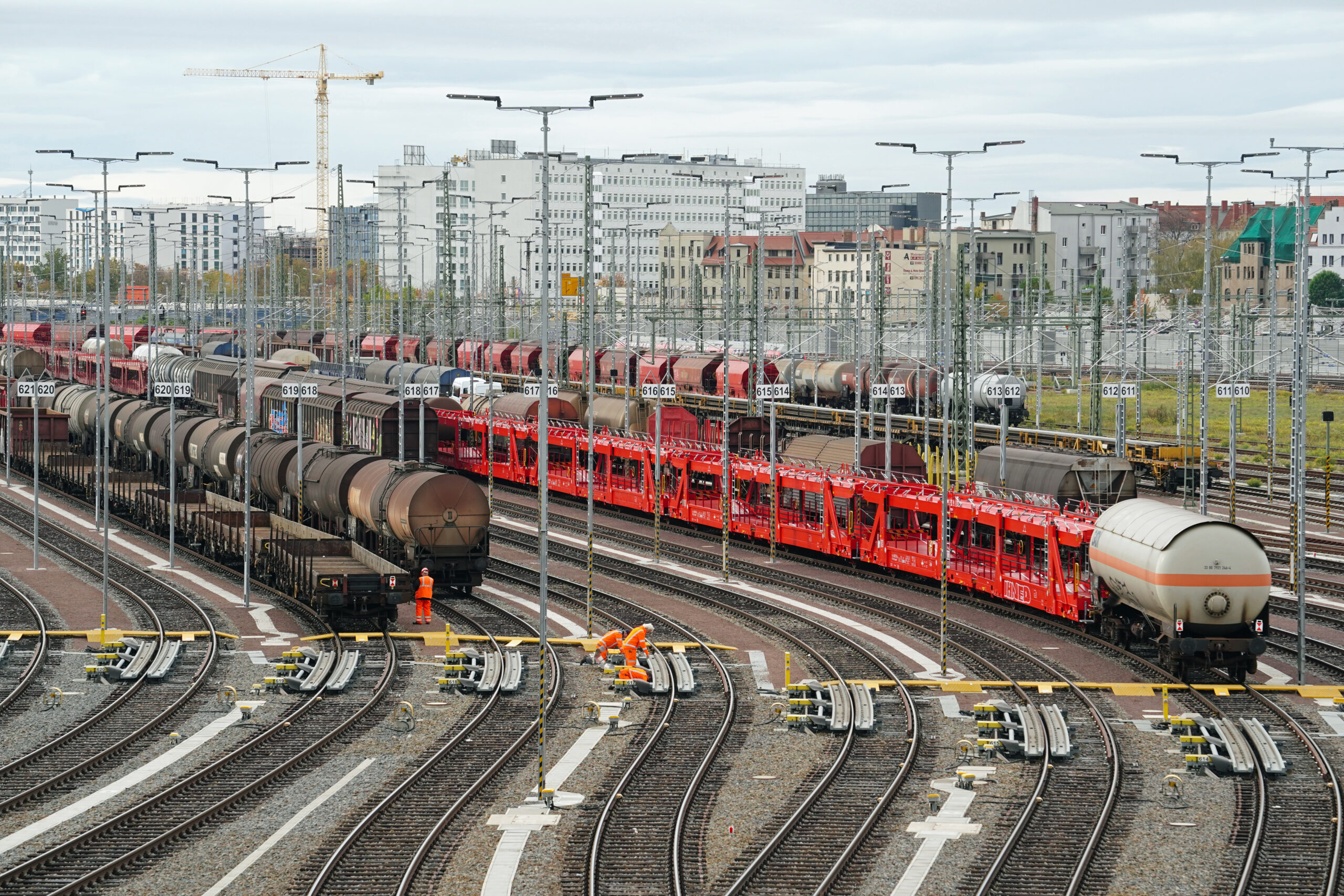 DB train formation yard in Halle/Saale