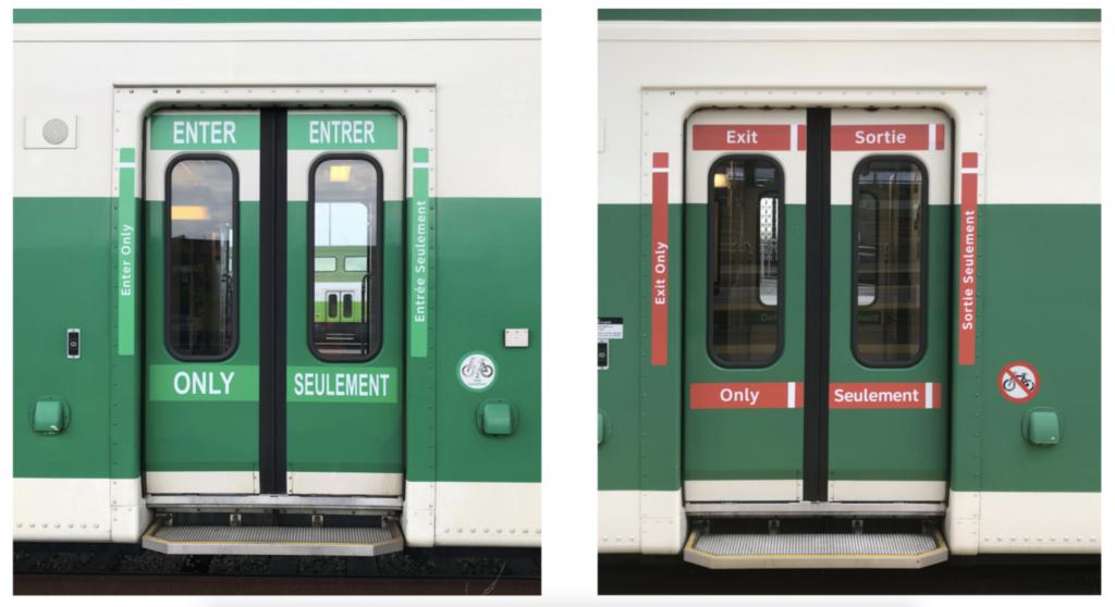 Train door wraps and decals