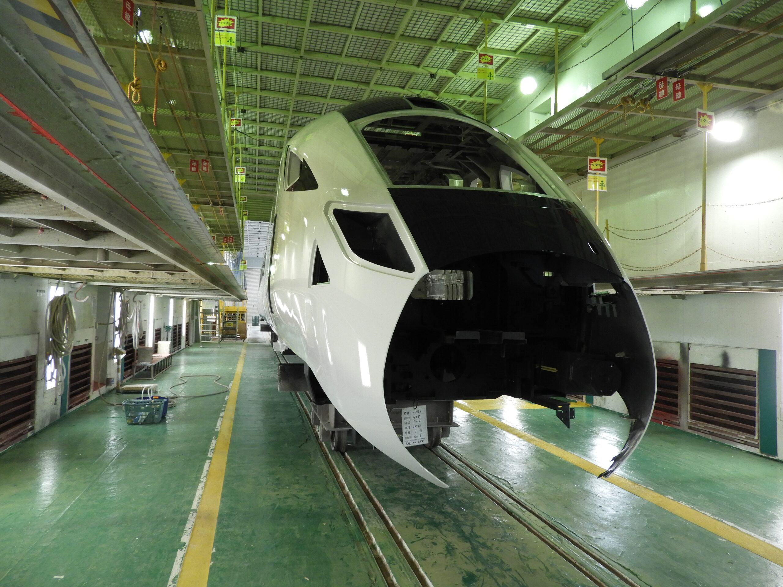 Class 805 bodyshell in the factory in Japan
