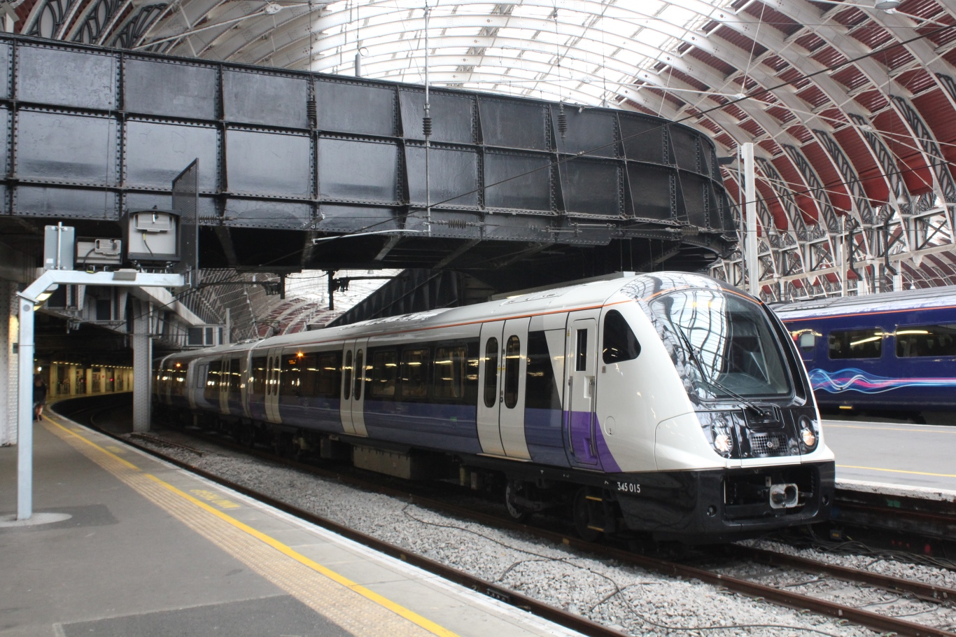 A Crossrail Class 345 train at Paddington
