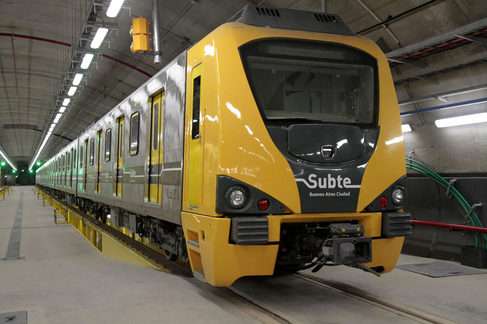 Metro train for line D of the Buenos Aires Underground