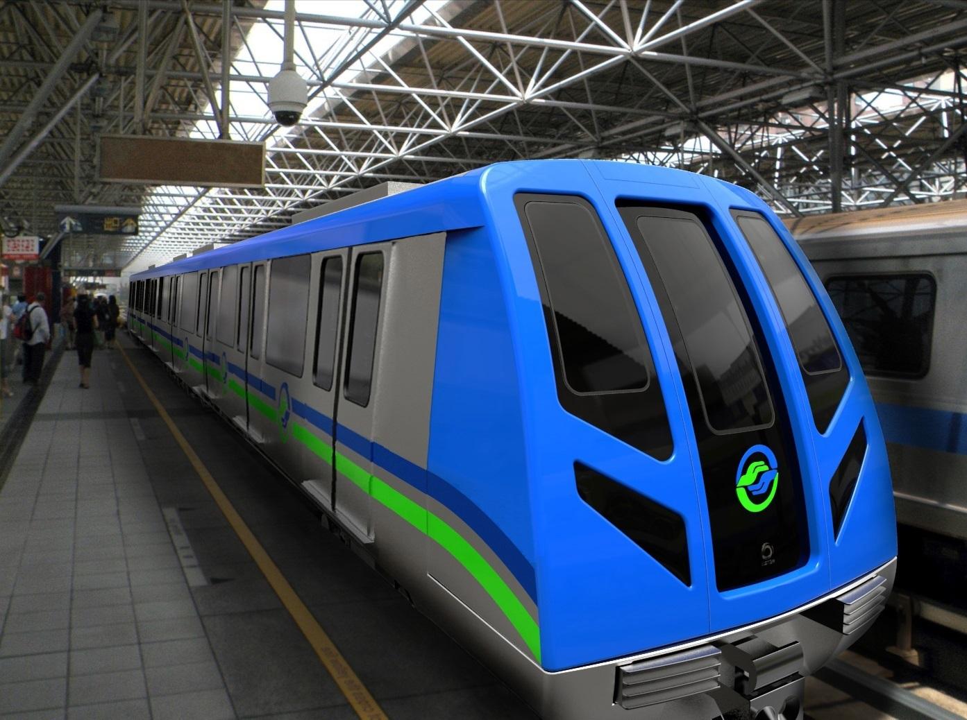 Taipei Metro train Alstom Metropolis