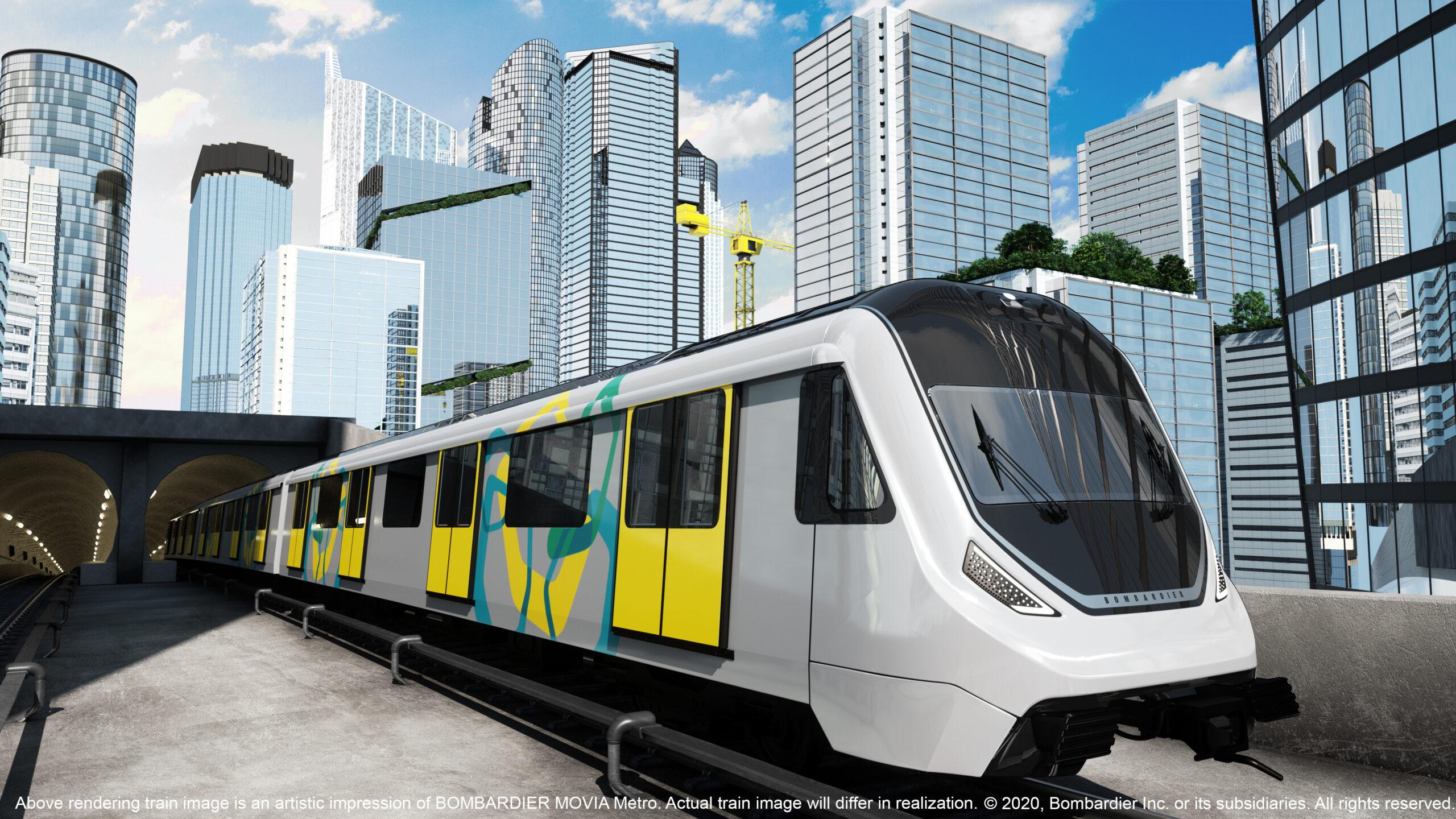 Bombardier MOVIA metro visualisation