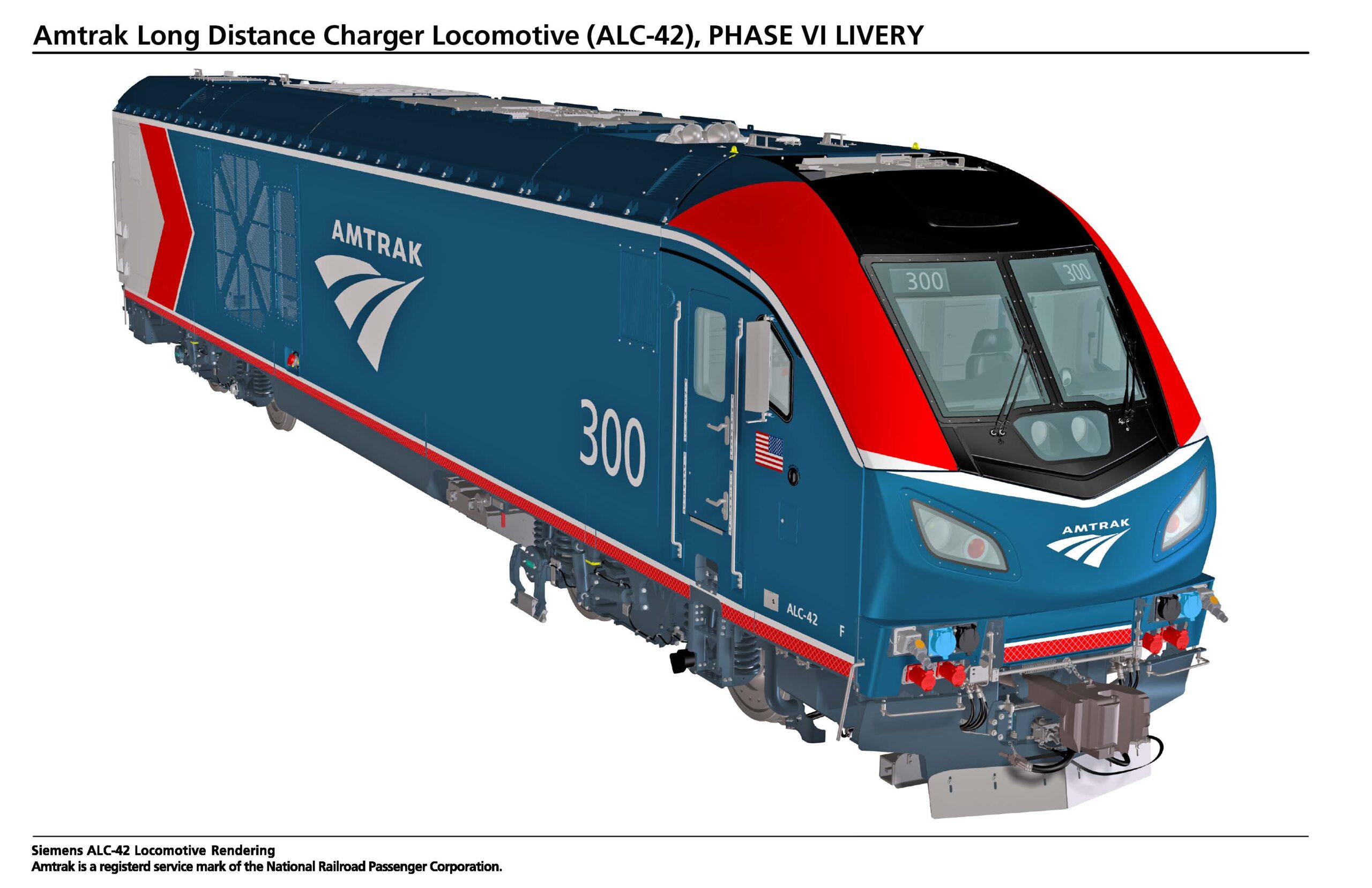 ALC-42 Siemens Charger diesel-electric locomotive for Amtrak