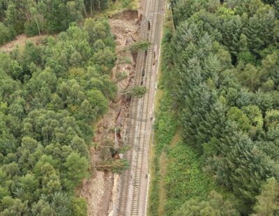 Edinburgh-Glasgow Line Seriously Damaged by Flooding