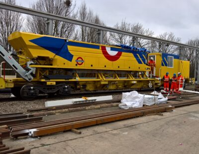 Rail Mounted Concrete Mixing Plant for London Underground