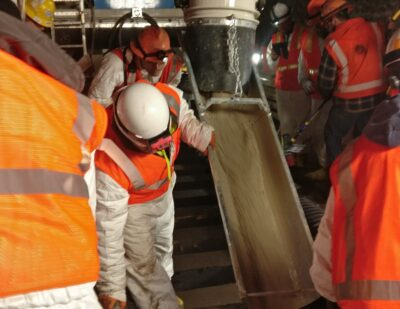 New London Underground Slab Track Cast In-Situ
