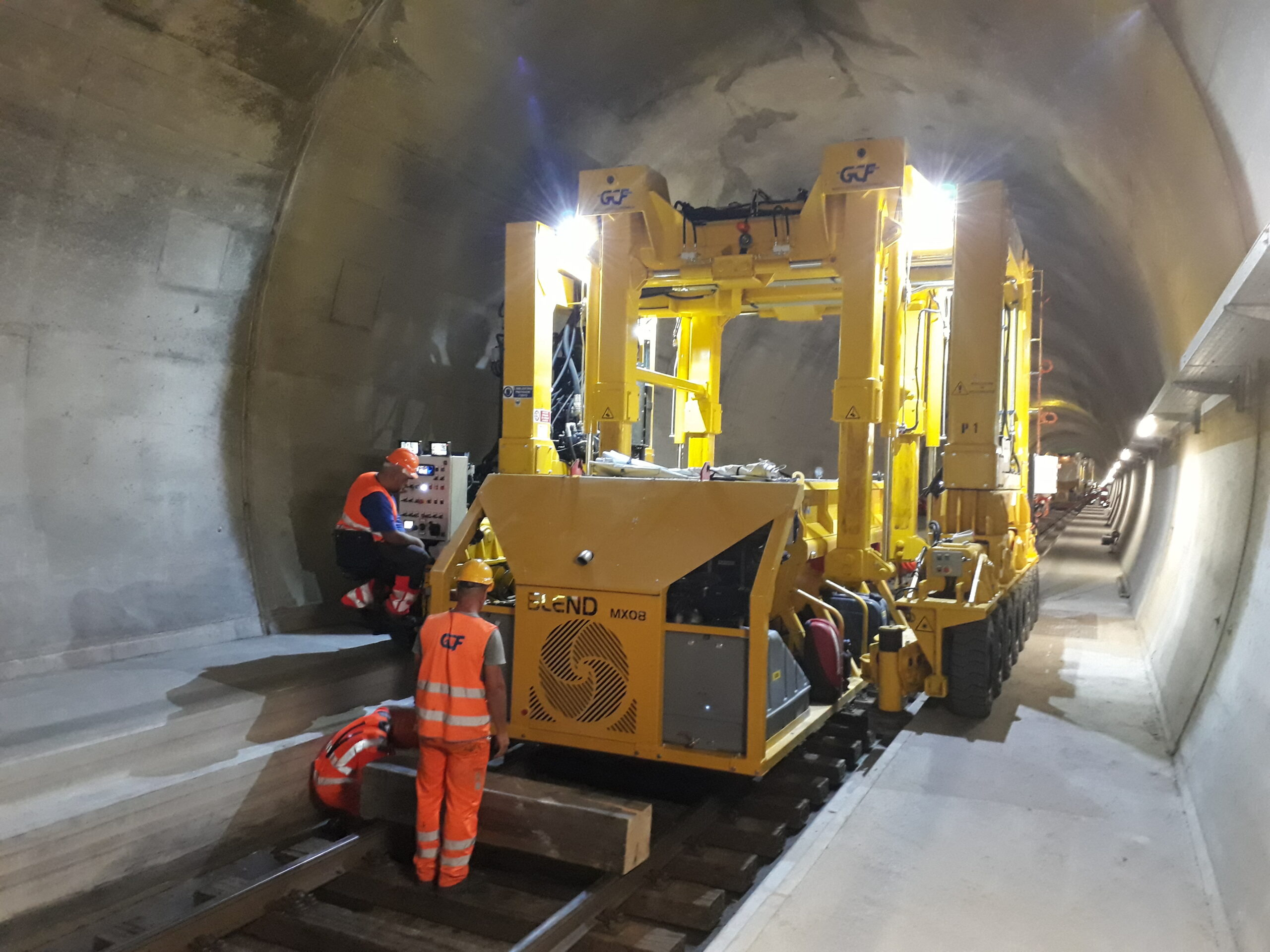 The work in the Monte Ceneri Tunnel