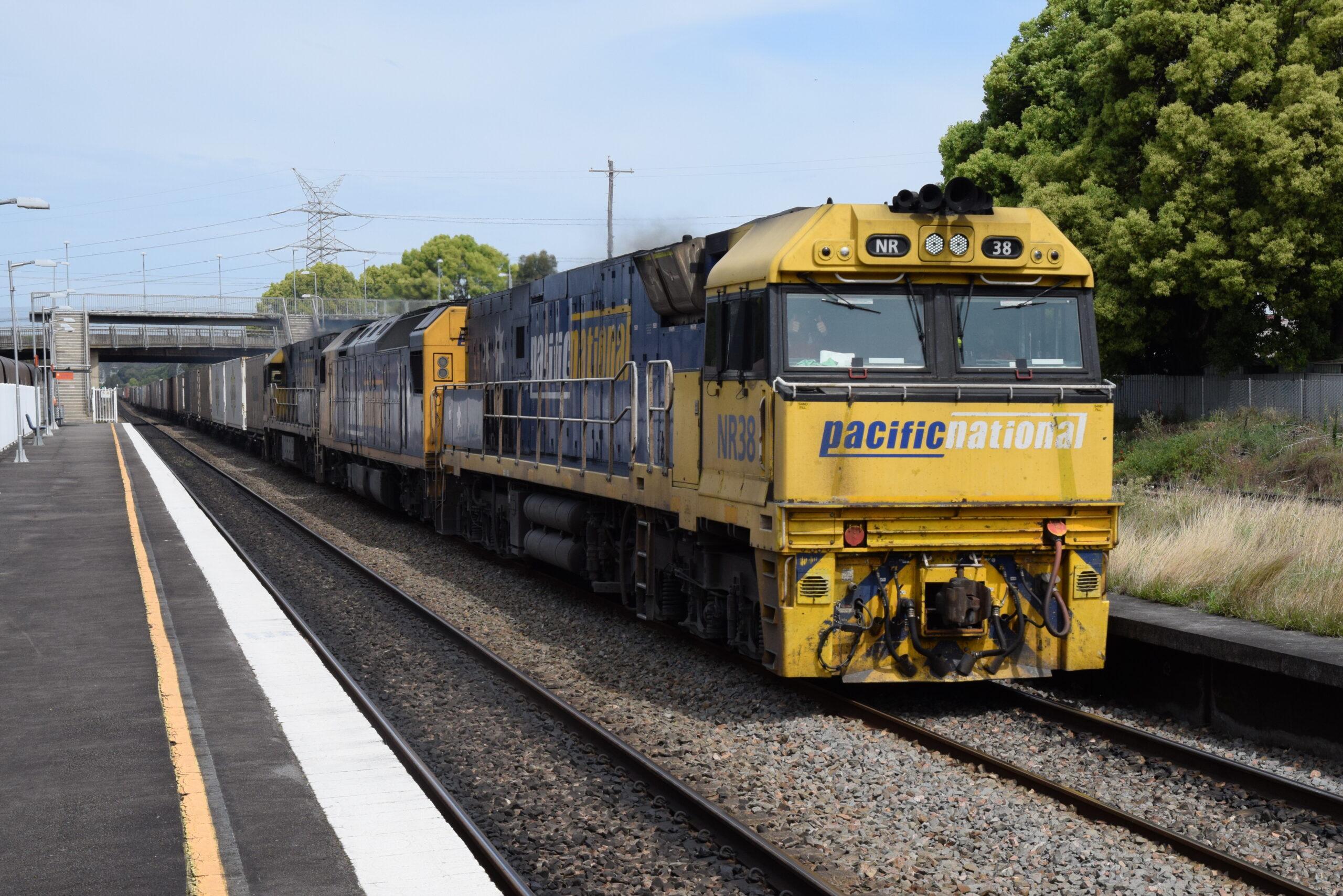 Freight train heading to Port Botany, Sydney