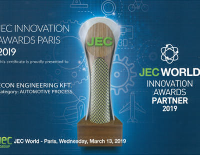 eCon Engineering Wins JEC Innovation Award 2019