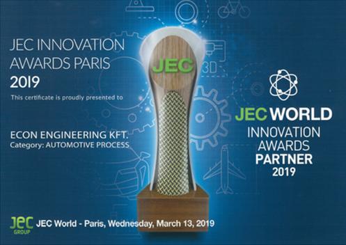 eCon Engineering JEC Innovation Award 2019