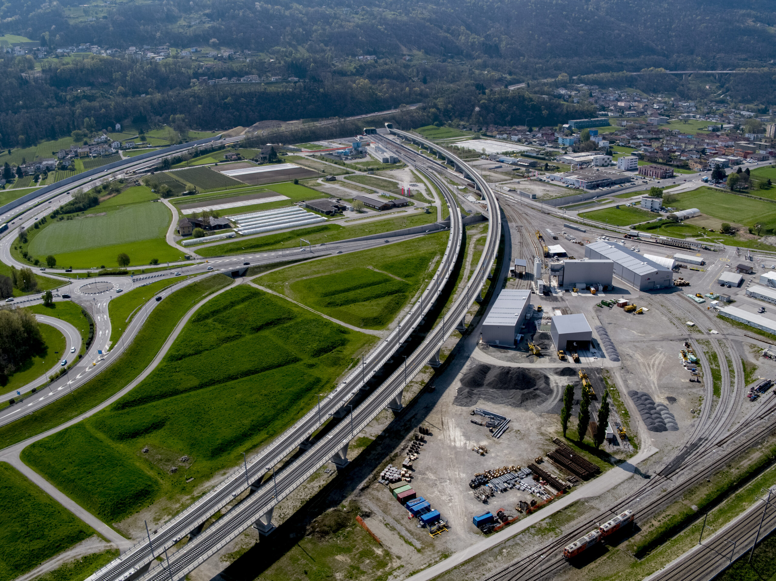 Aerial view Ceneri Base Tunnel