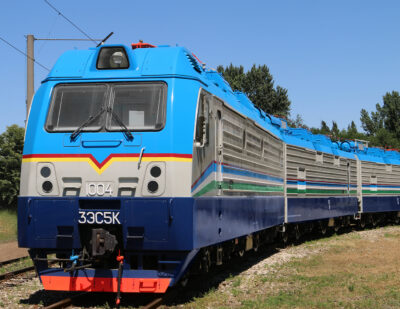 TMH Delivers Five Locomotives to Uzbekistan Railways