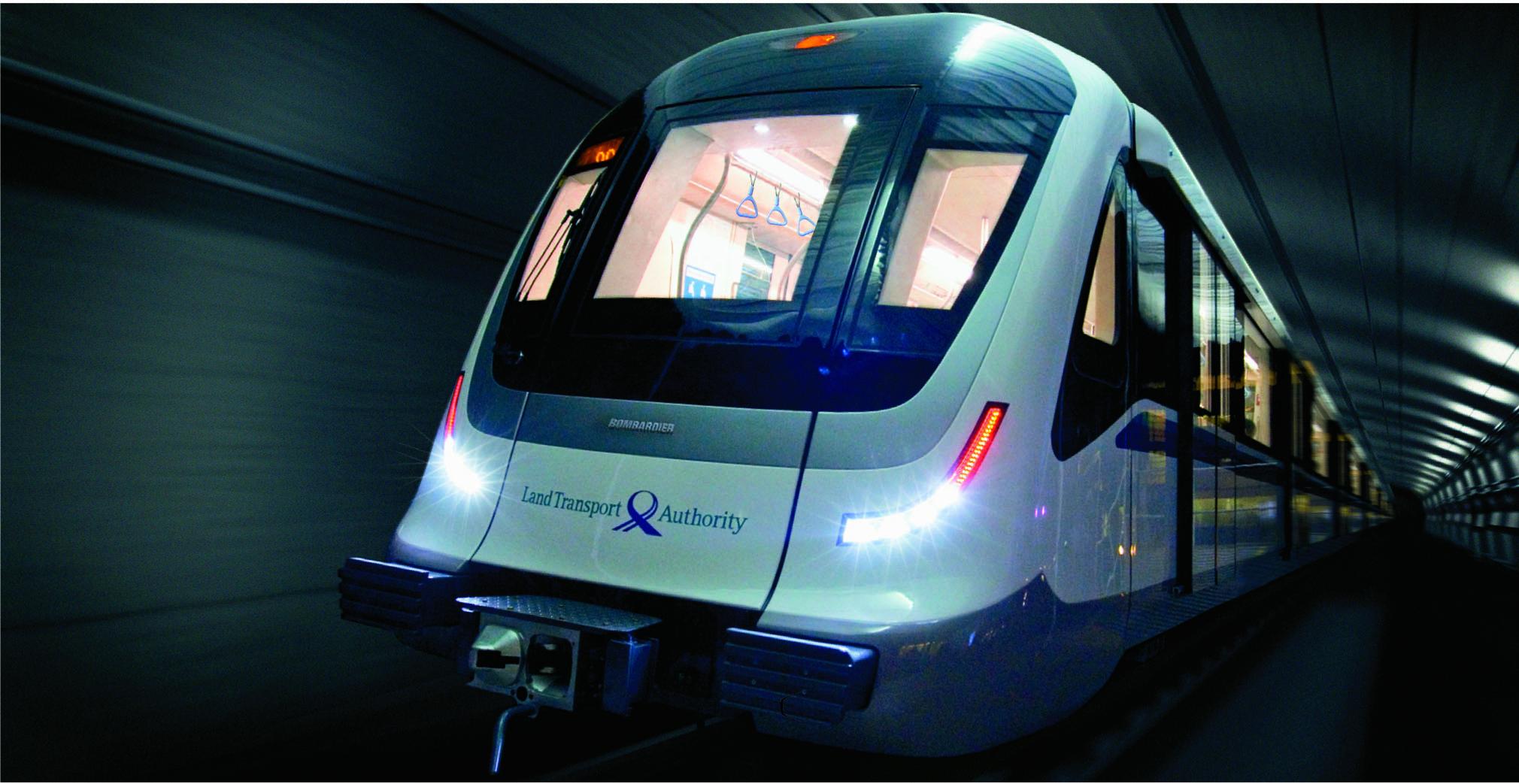 Bombardier MOVIA metro for Singapore Downtown line