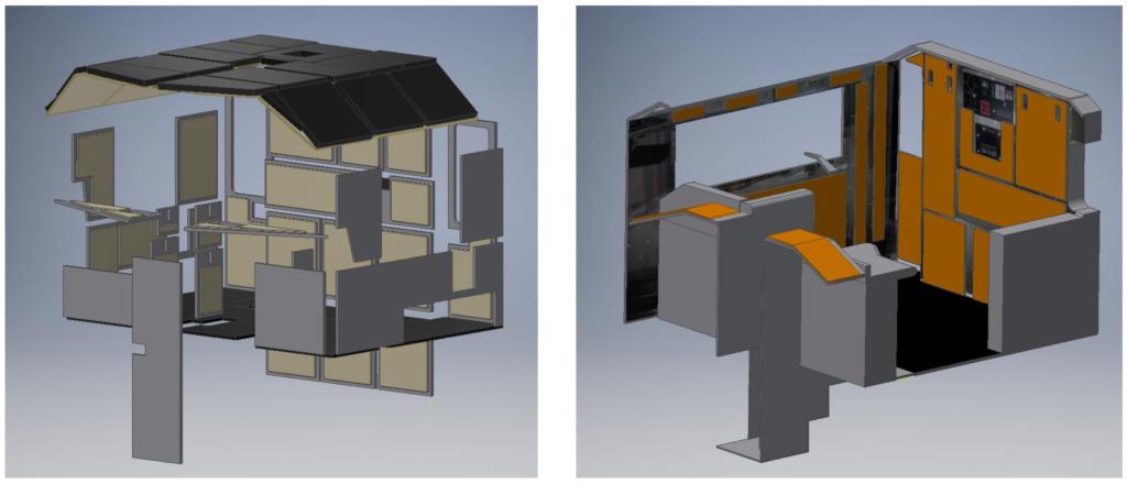 Sound Damping Panels Cab Interior