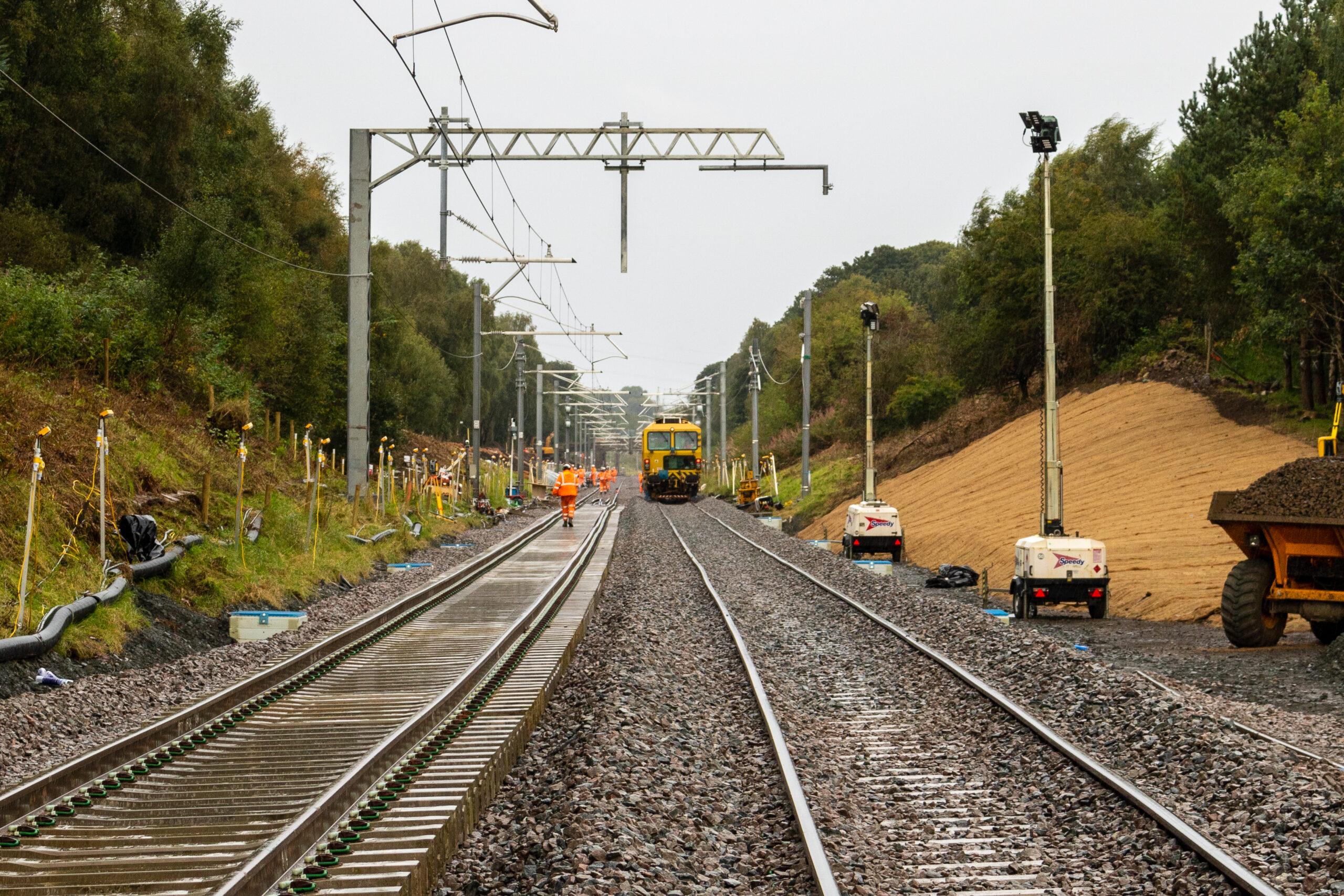 Edinburgh-Glasgow line repair works