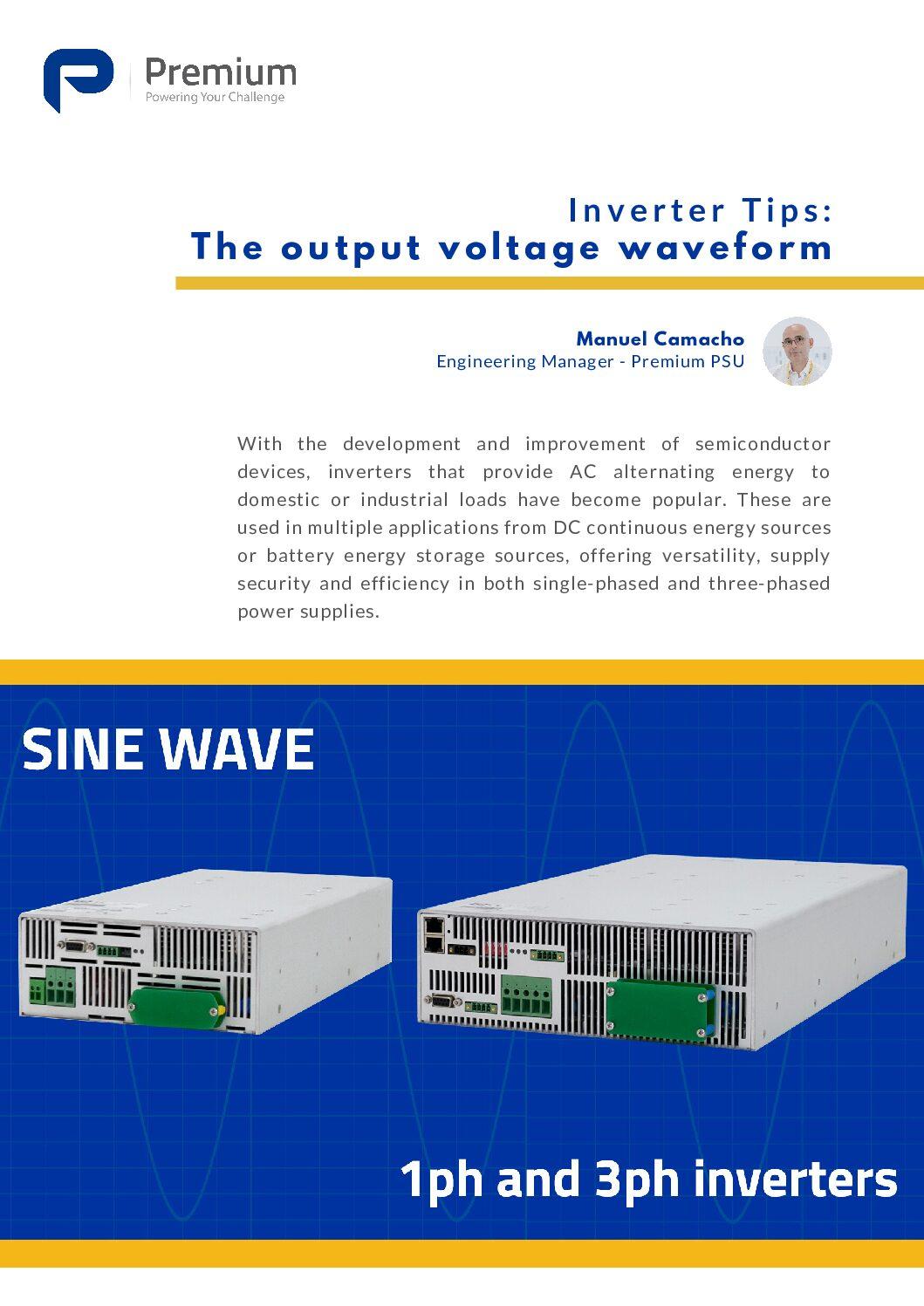 Inverter Tips: The Output Voltage Waveform