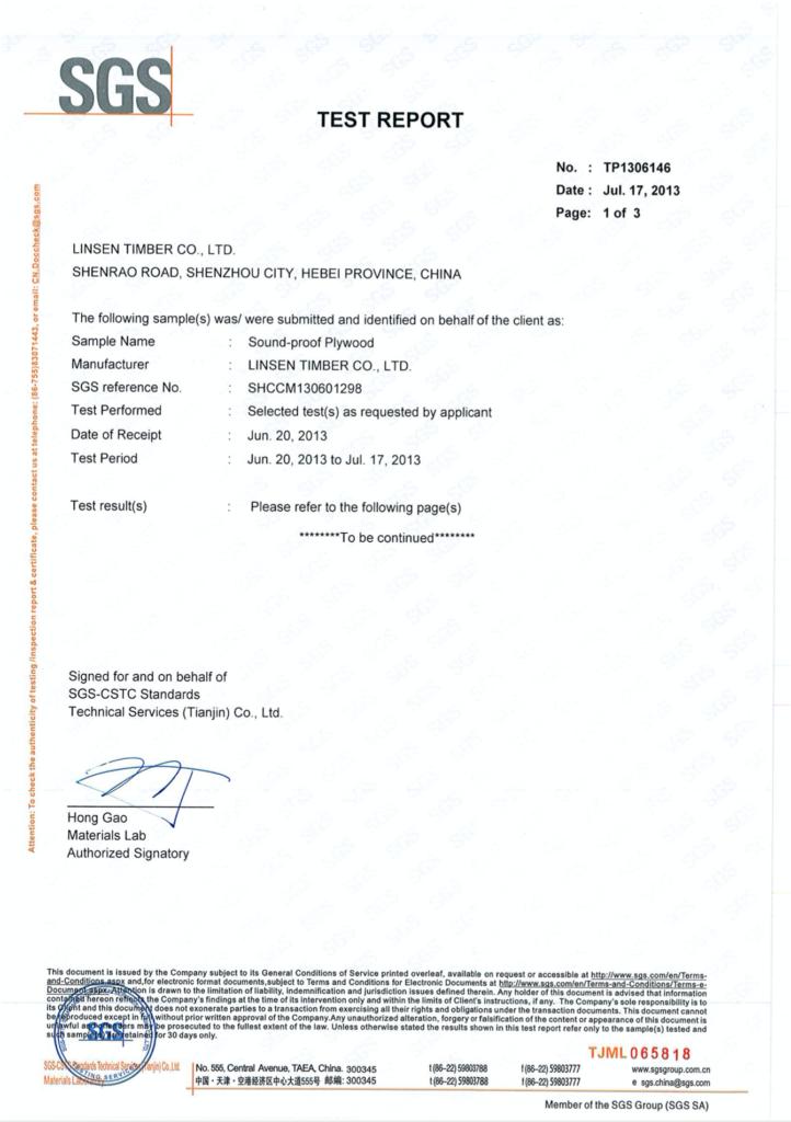 Sound-Proof Flooring Testing Report