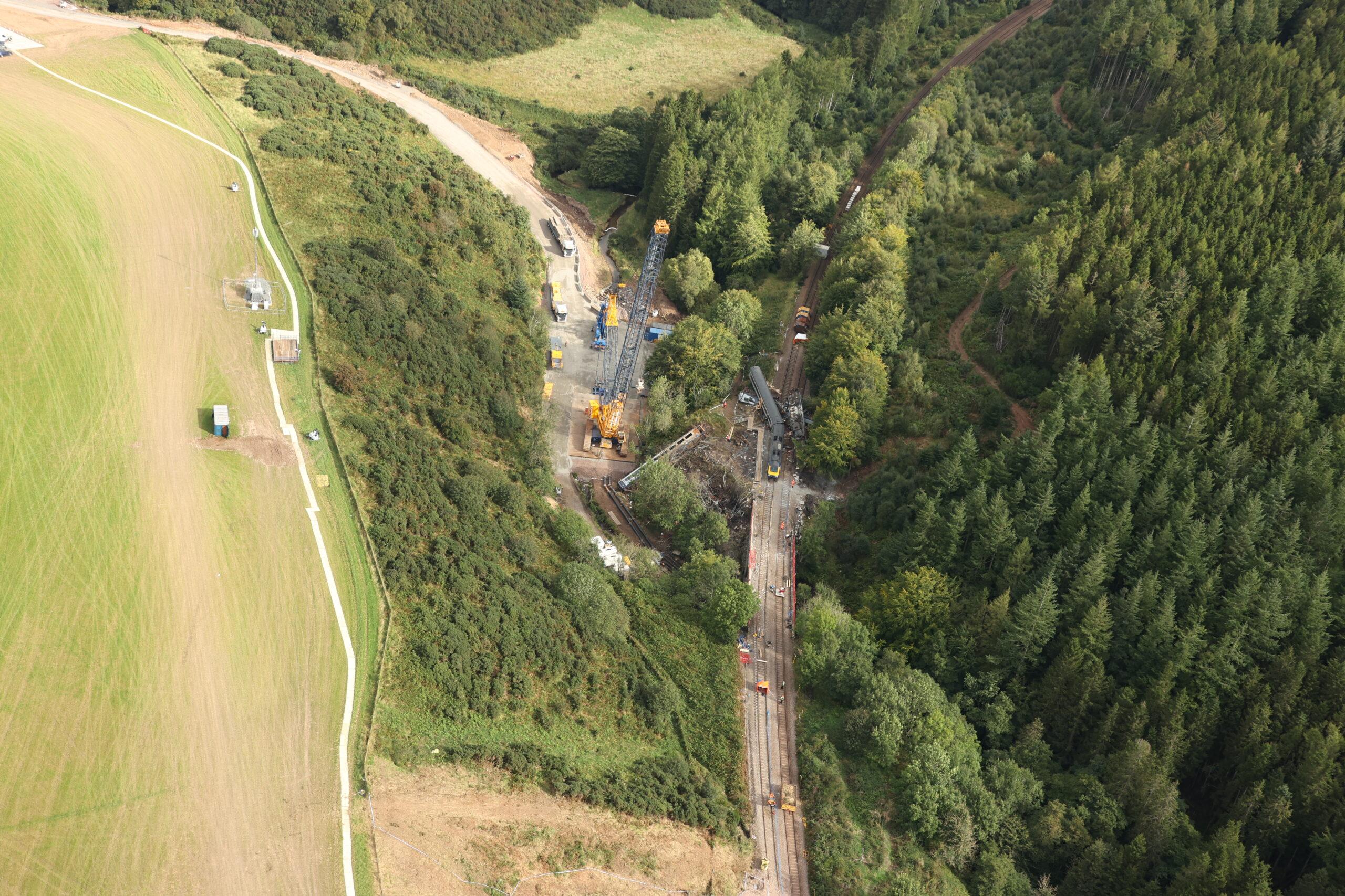 Stonehaven derailment site, 8 September