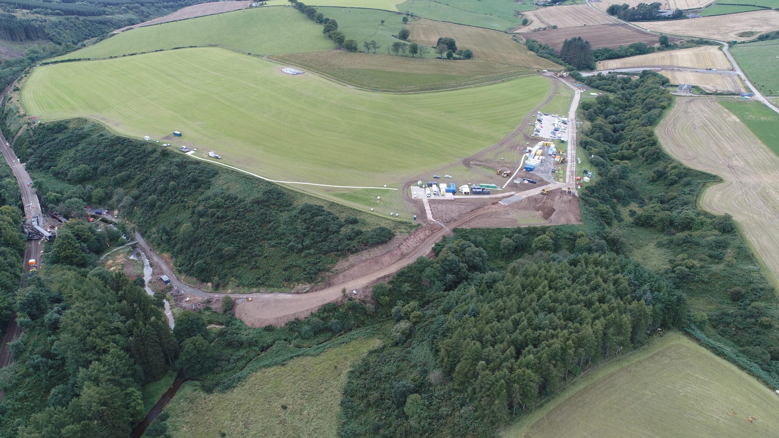 Stonehaven derailment preparatory works