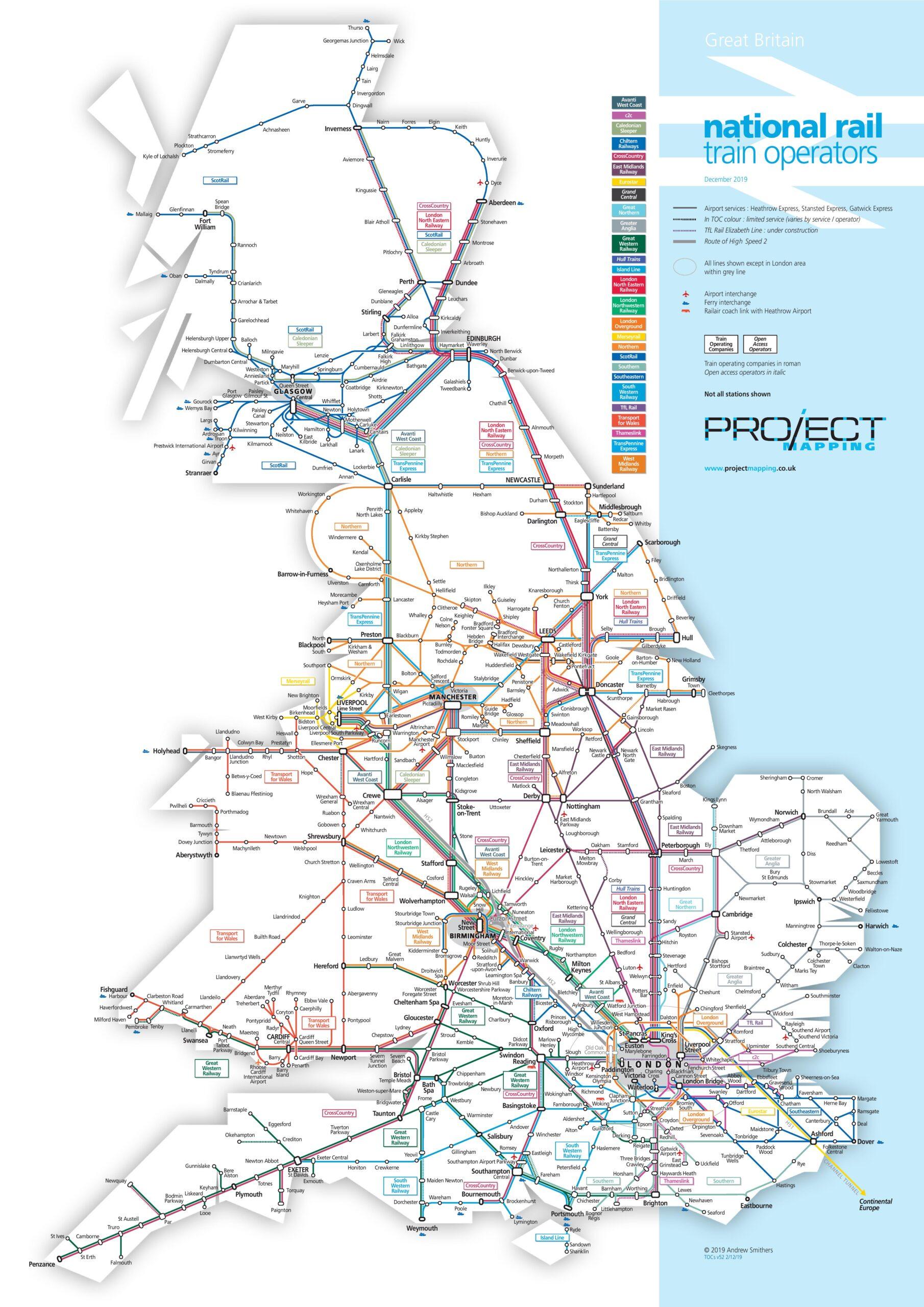 Train operating companies in Great Britain (December 2019)