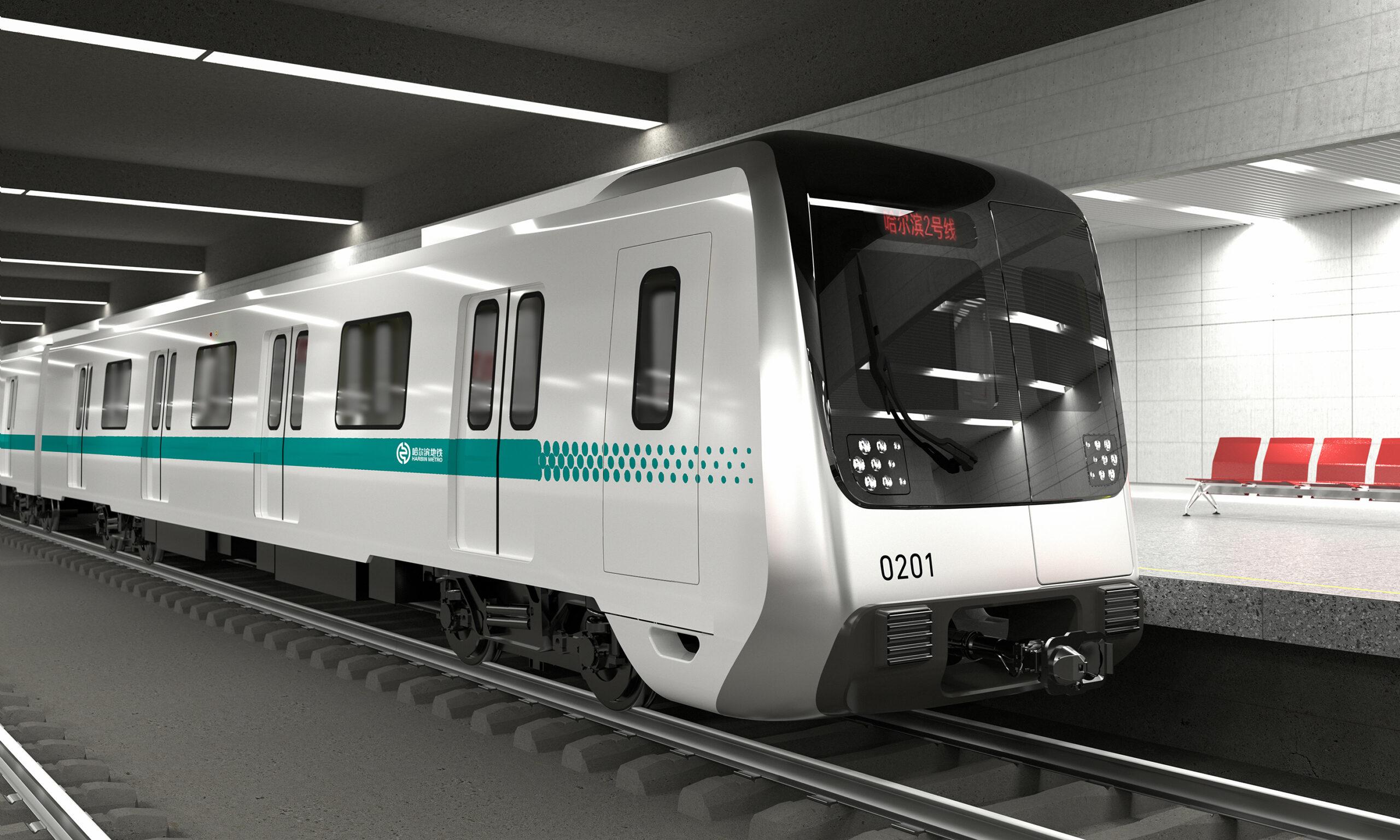 Metro train for Harbin Metro