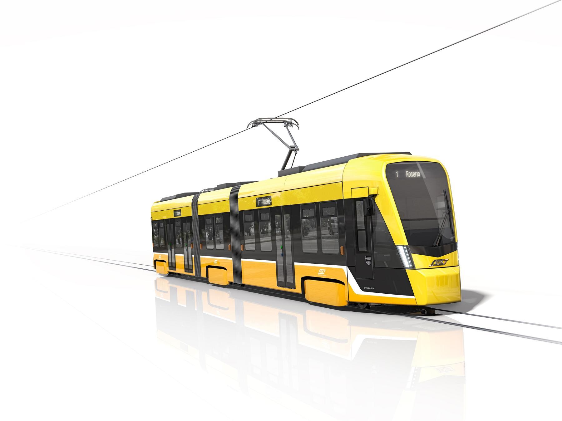 Stadler TRAMLINK tram for Milan