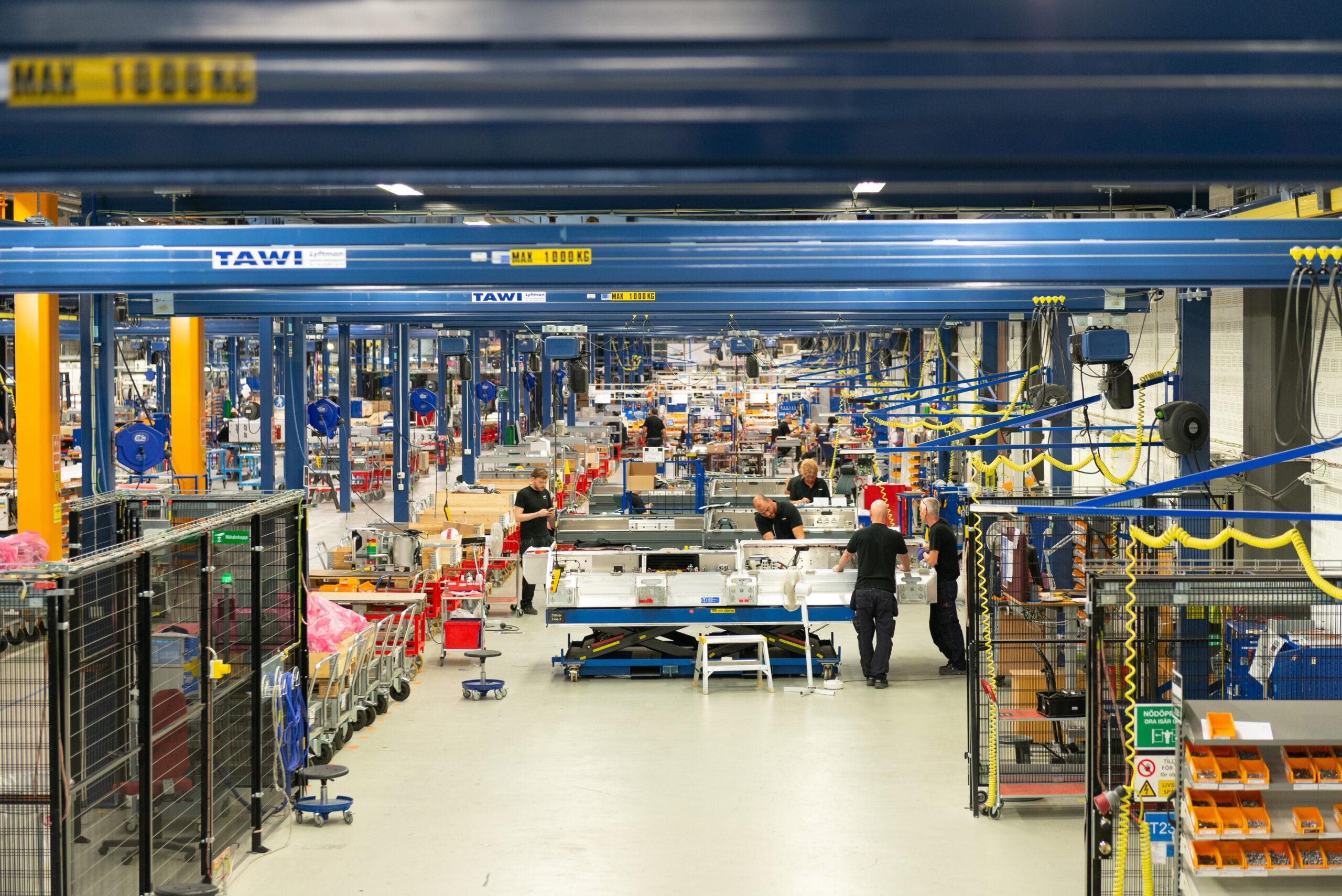 Bombardier's production facility in Västerås