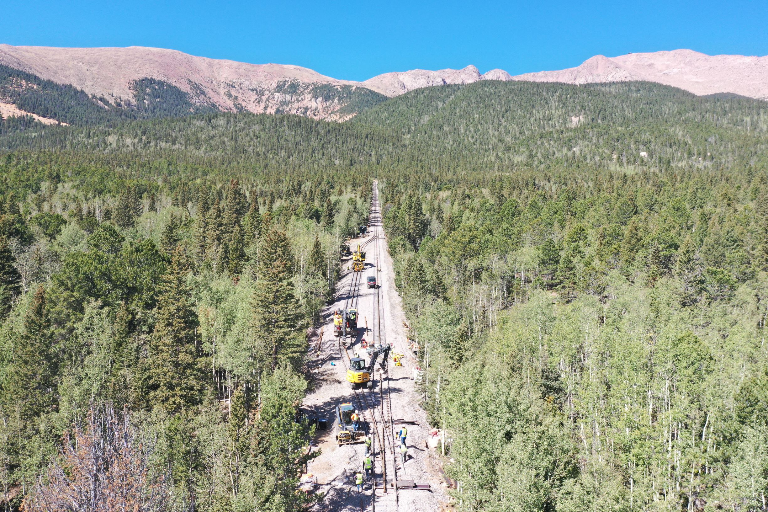 Track renovations on The Broadmoor Manitou and Pikes Peak Cog Railway