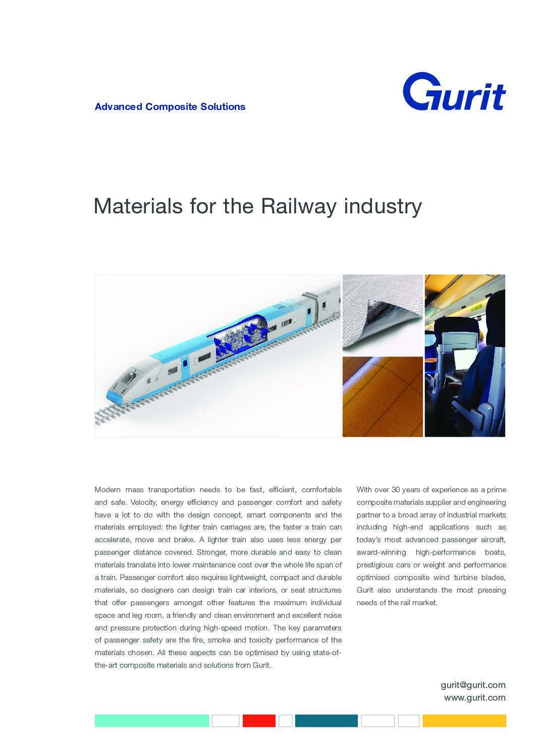 Materials for the Railway Industry