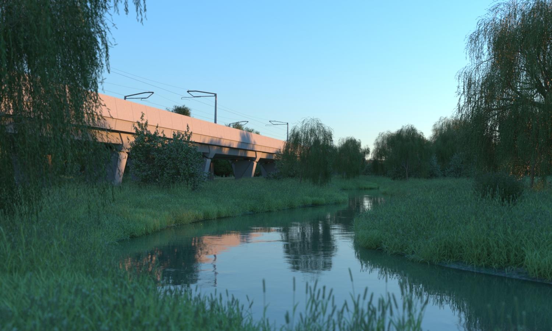 HS2 Edgcote Viaduct, artist's impression