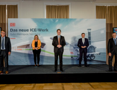Deutsche Bahn to Open New ICE Maintenance Plant in Nuremberg