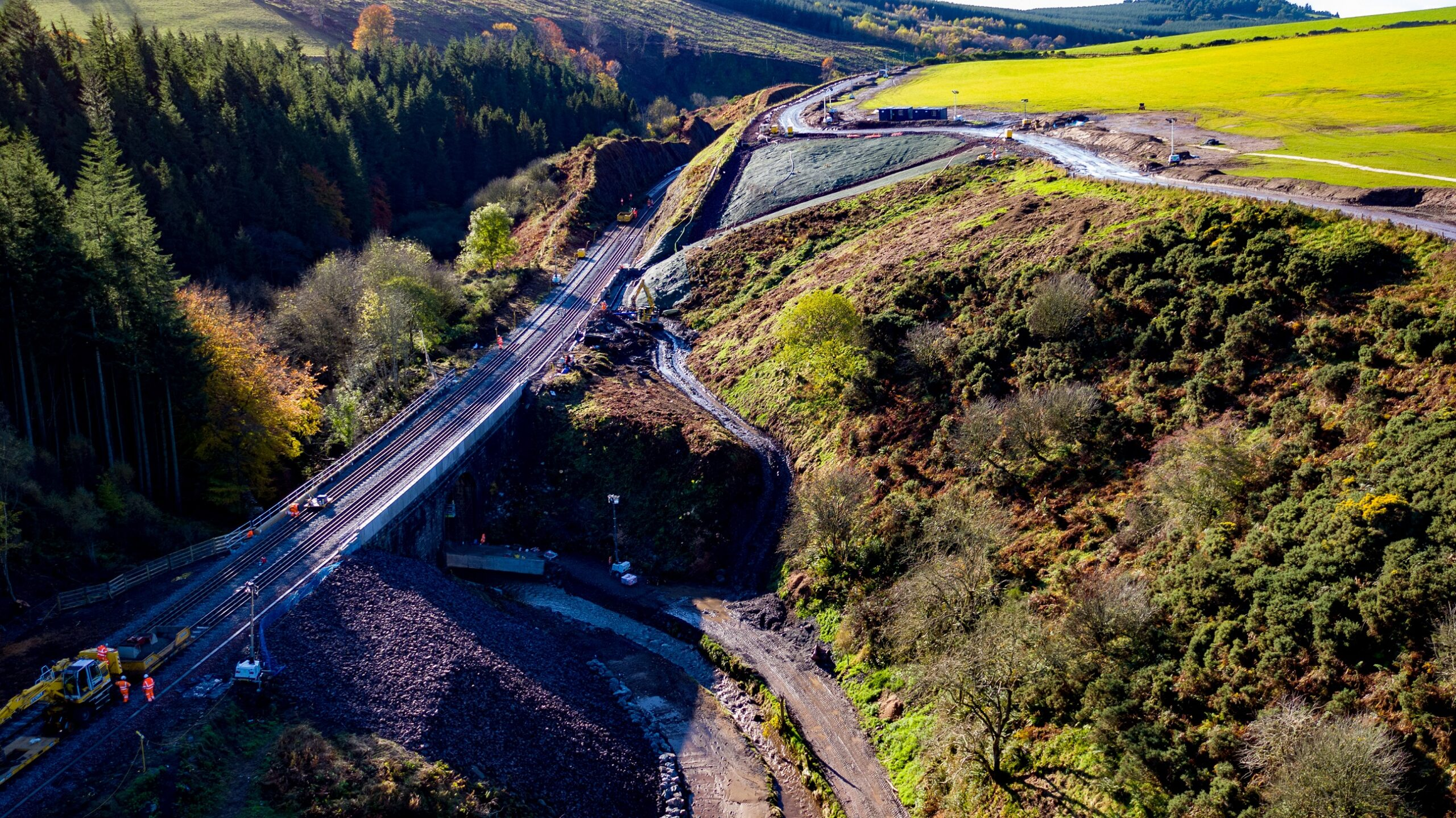 Stonehaven Derailment site with the repair works complete