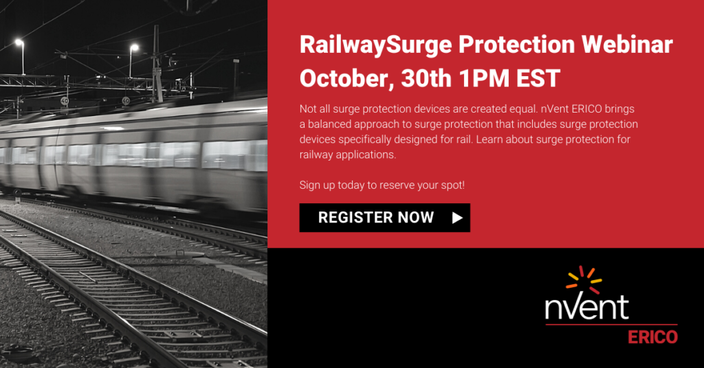 nVent ERICO Railway Surge Protection Solutions