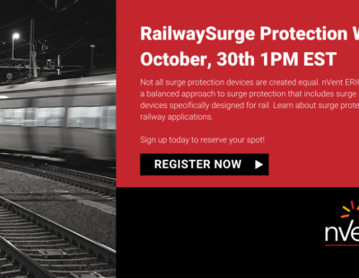 Webinar: nVent ERICO Railway Surge Protection Solutions