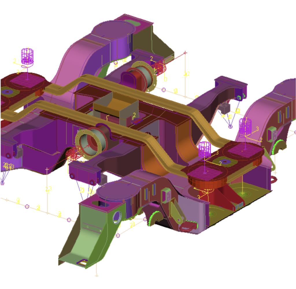 FE-Model of a Motor Bogie