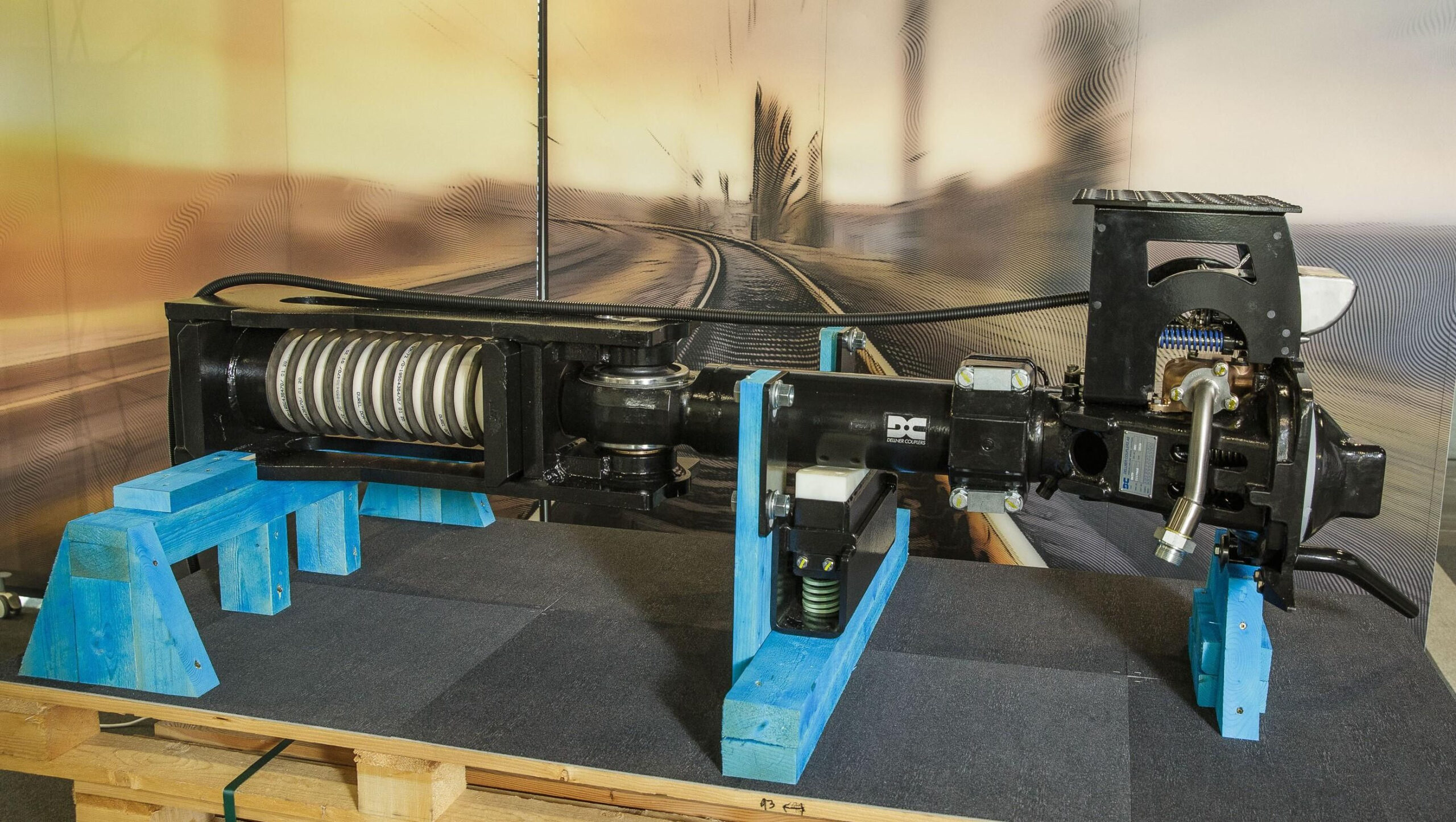 One of the four digital automatic coupling prototypes