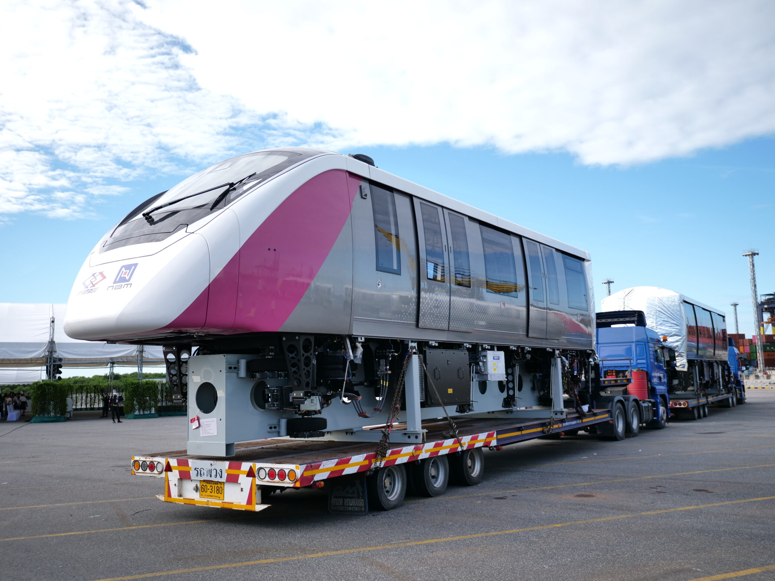 The first Bombardier INNOVIA monorail 300 vehicle for Bangkok