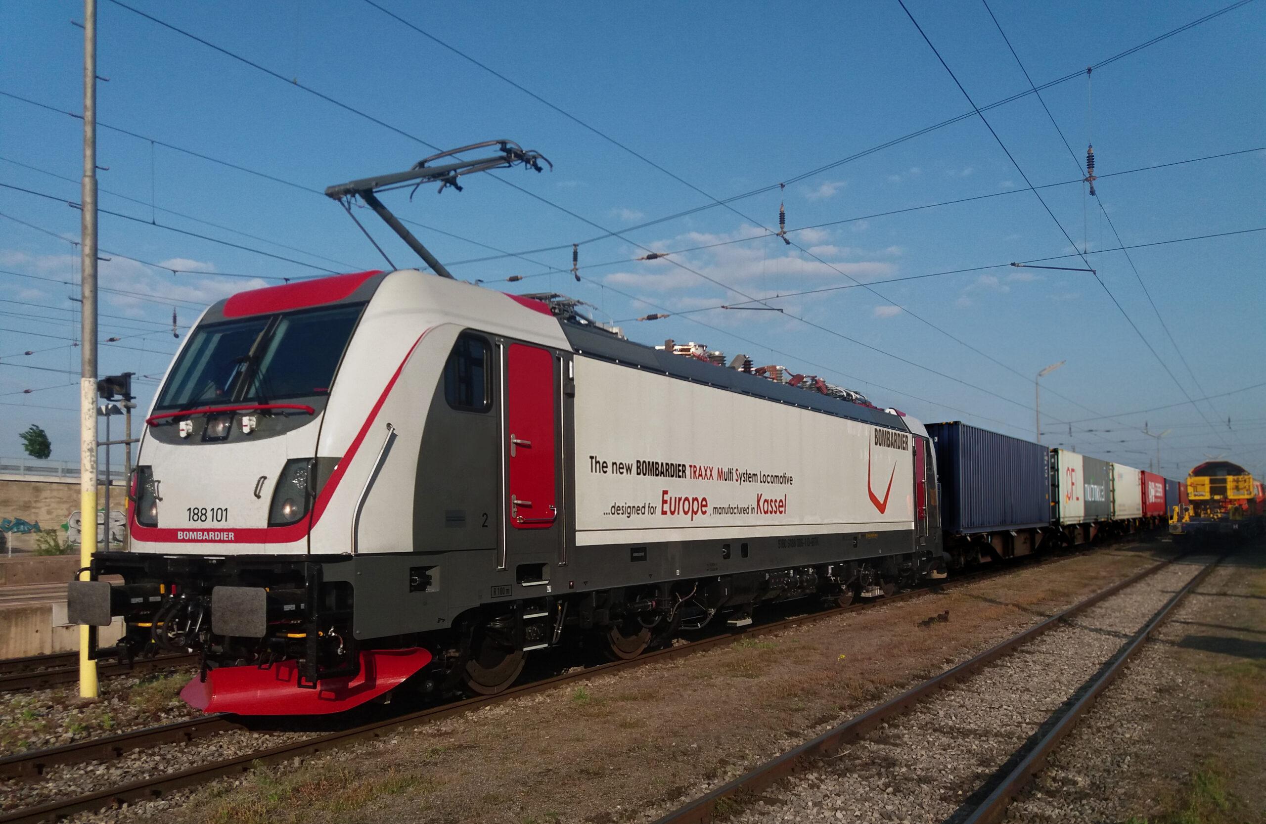 A Bombardier TRAXX multi-system locomotive