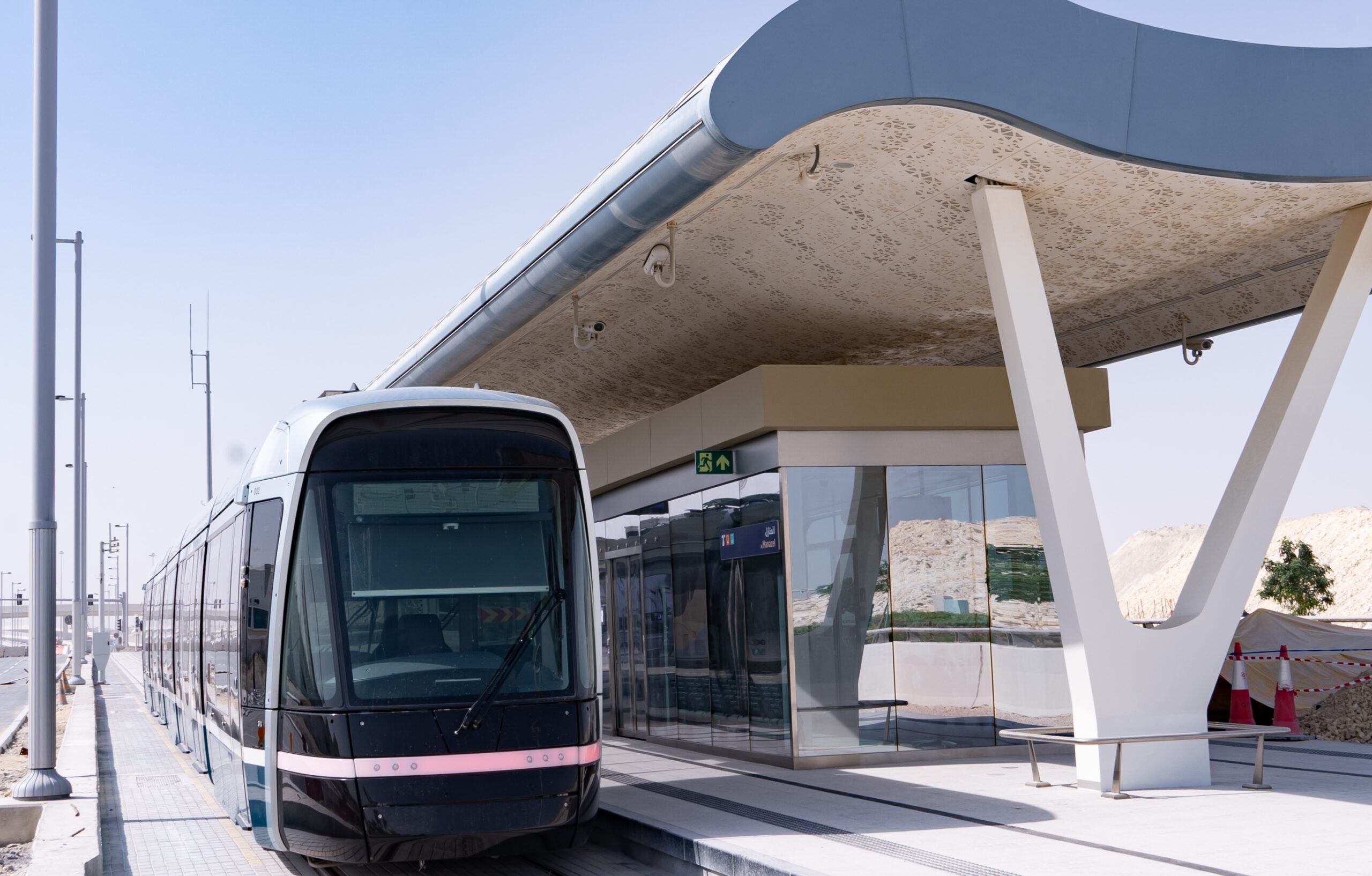 The Alstom Citadis X05 tram for Lusail, Qatar
