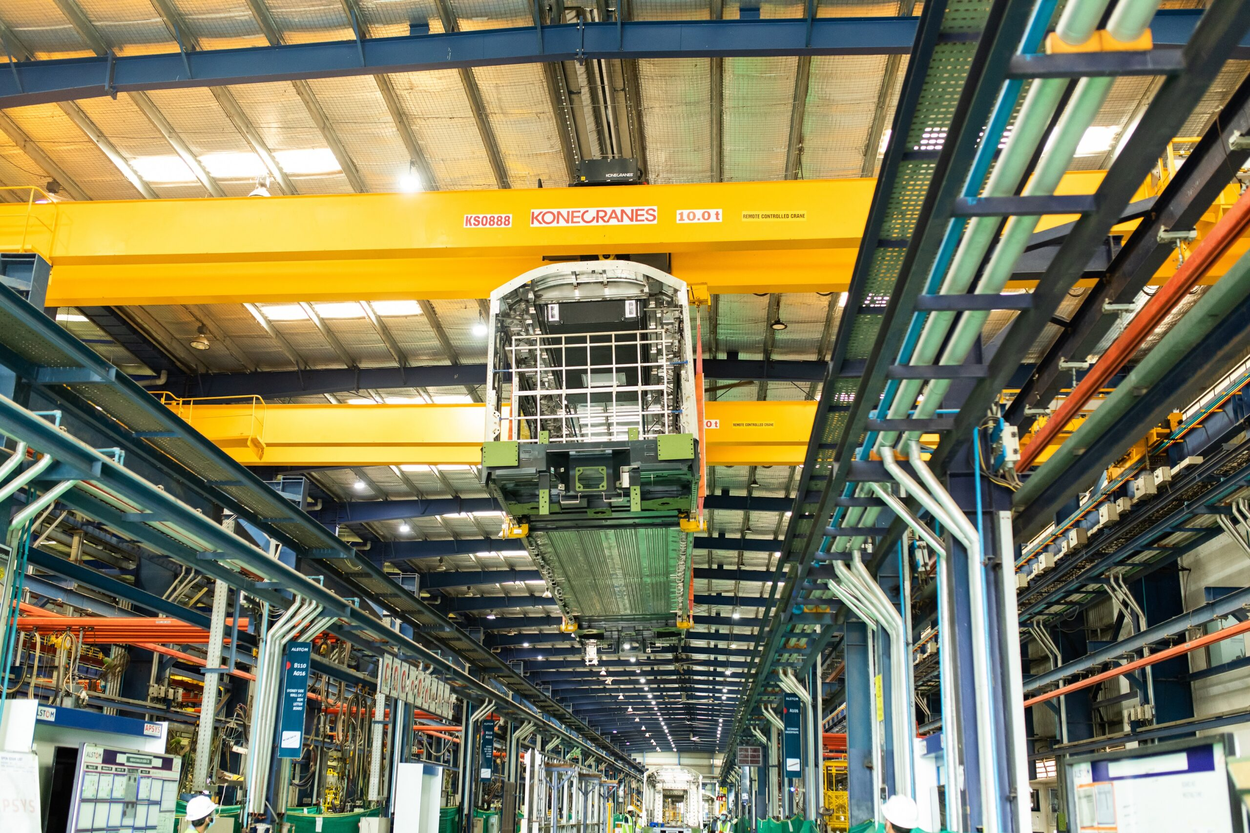 Alstom Metropolis car body being built at SriCity factory in India