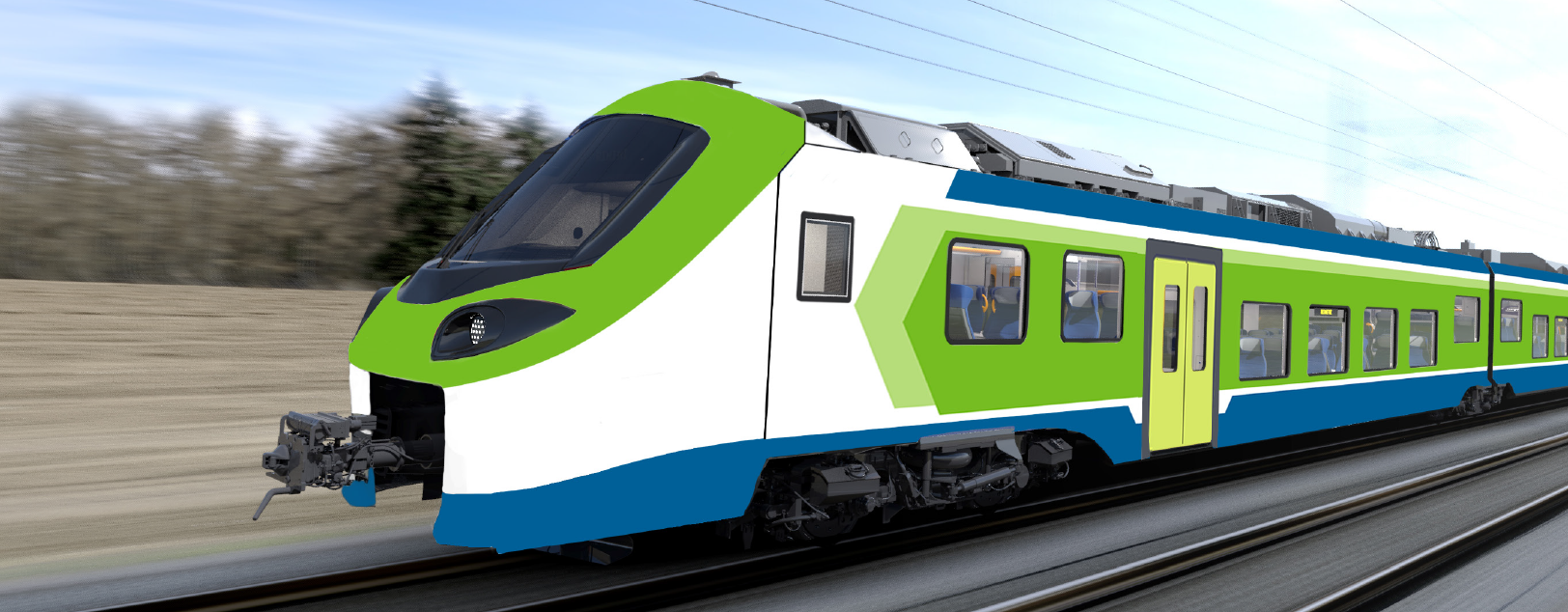 Illustration of the hydrogen train for Italy