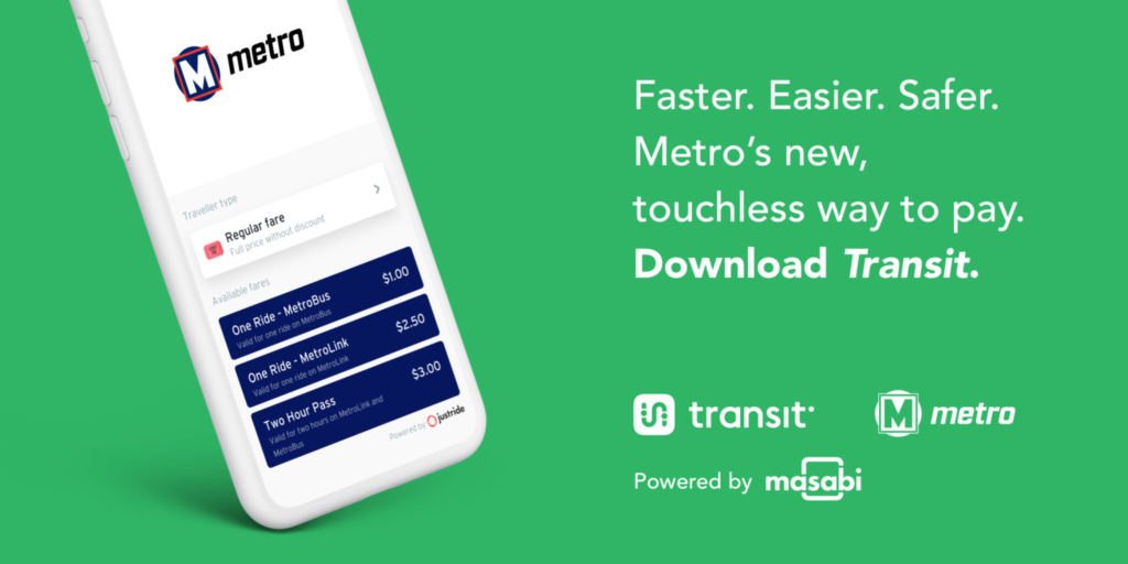metro transit app masabi mobile ticketing