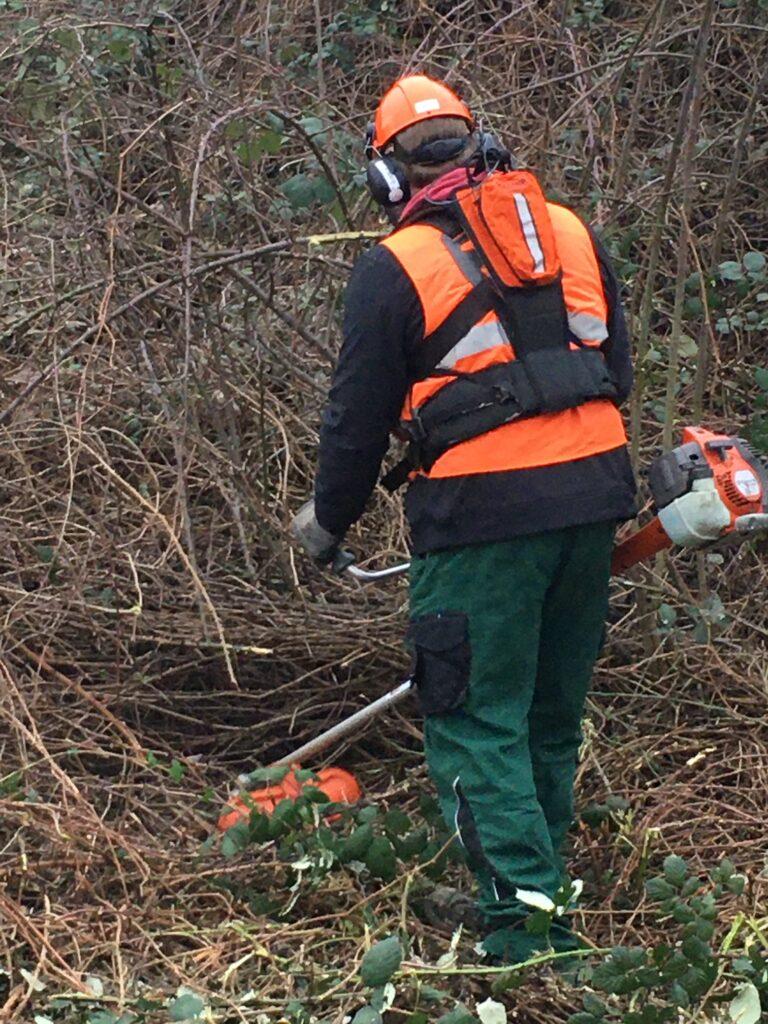 Personal Warning Device-Vegetation maintenance worker