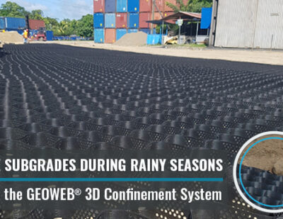 GEOWEB® Geocells Strengthen Soft Subgrades for Heavy Loads at Port Facilities