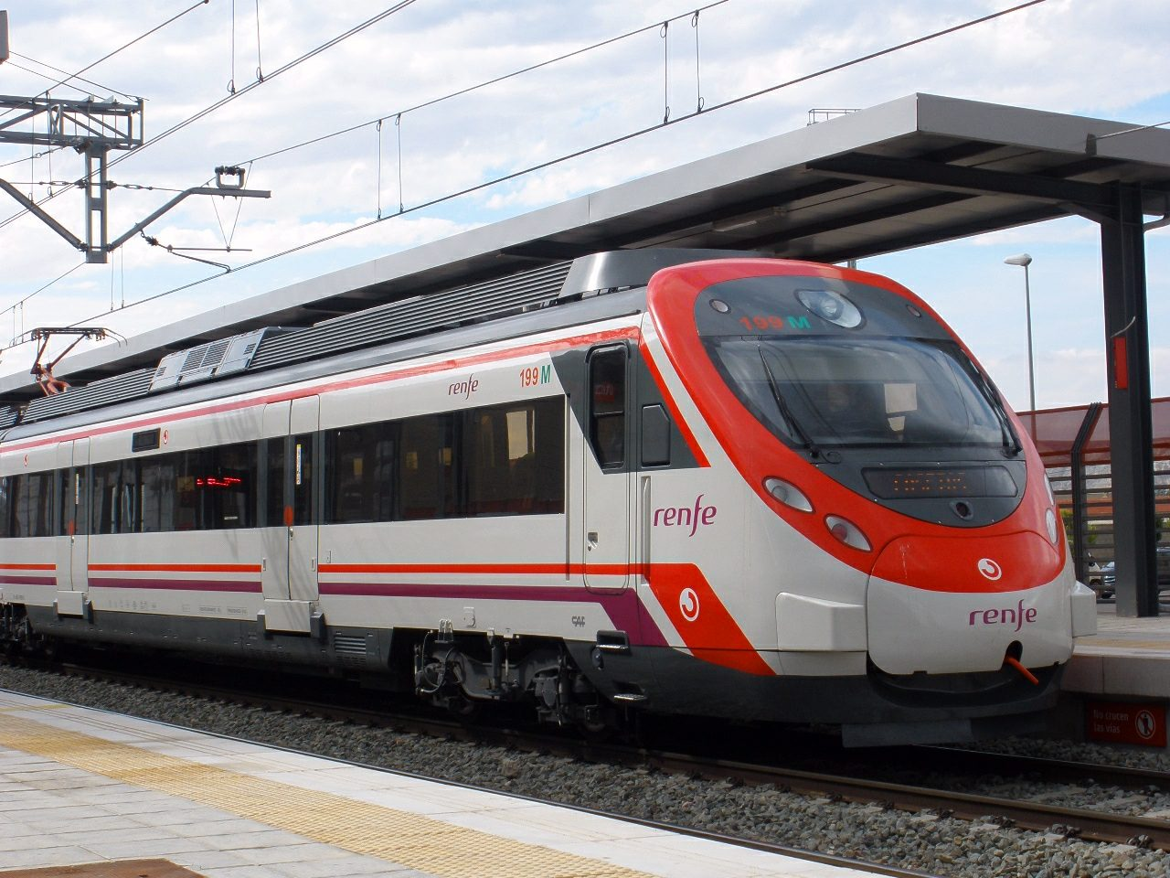 A Renfe Civia EMU –the proposed train for the hydrogen fuel cell trials