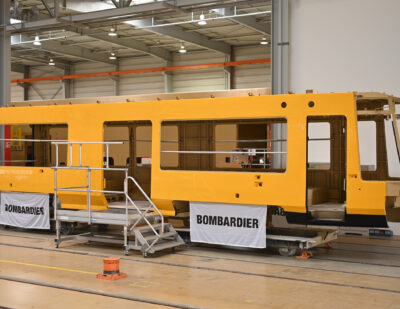 SNEAK PEAK of Bombardier's First Car Body for Dresden