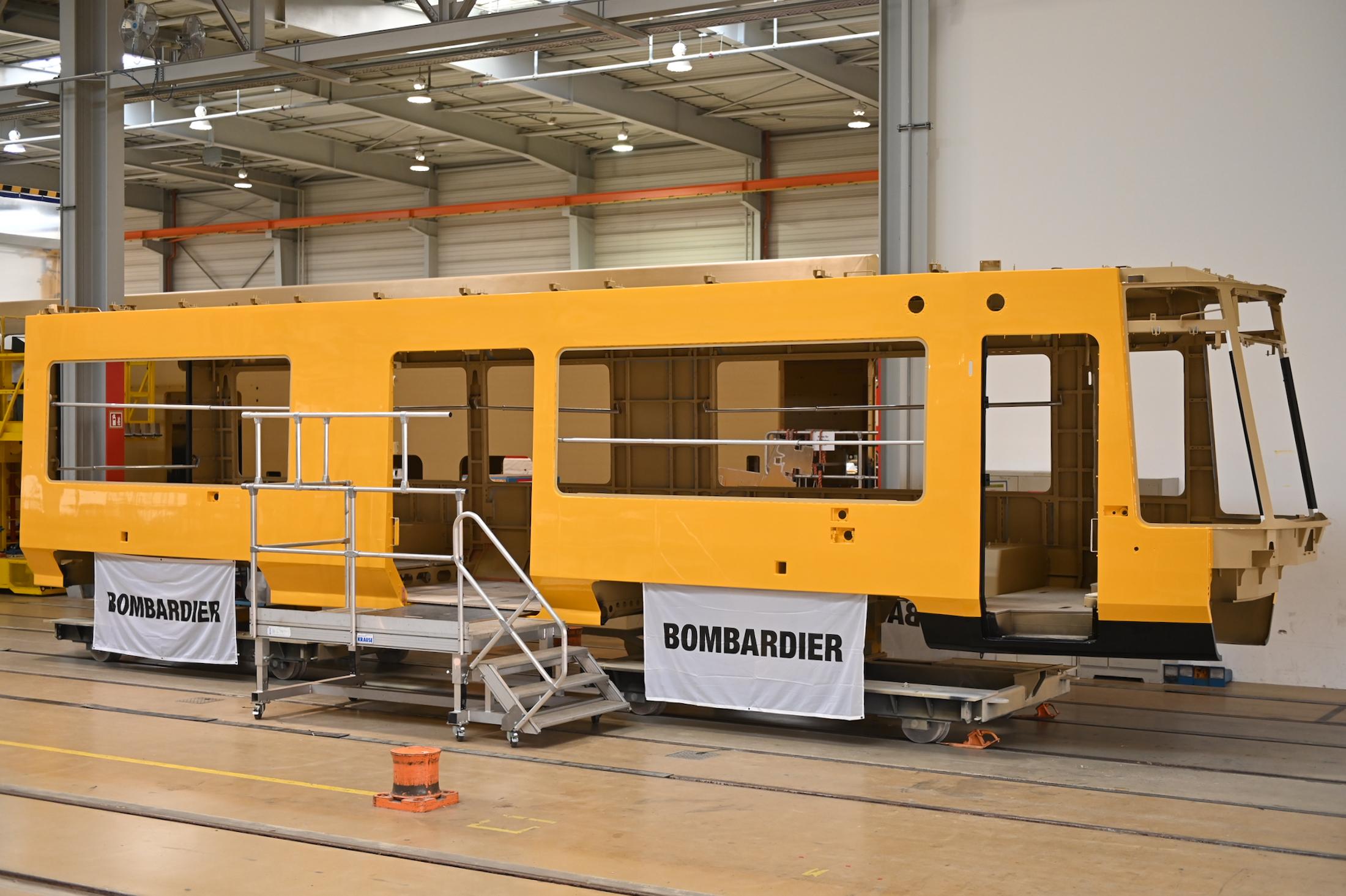 Bombardier Transportation FLEXITY car body shell for Dresden trams