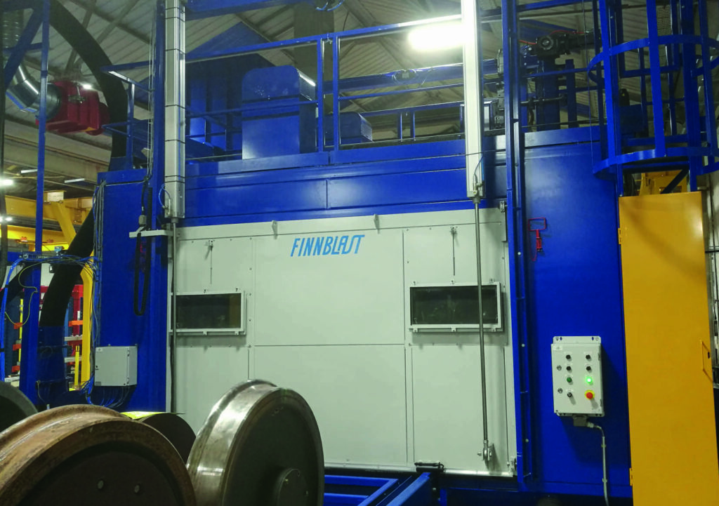Blast Cleaning Machine for Wheelsets