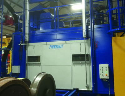 Blast Cleaning Machine for Wheelsets Delivered to UK